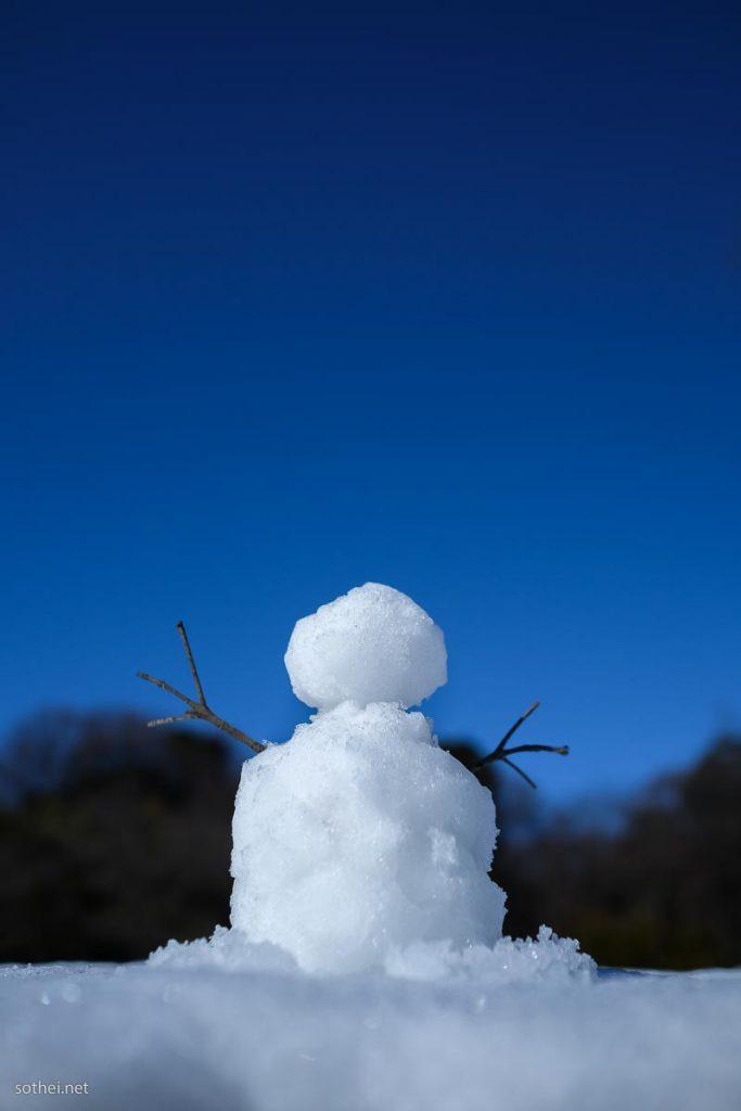 青空と雪だるま(縦)