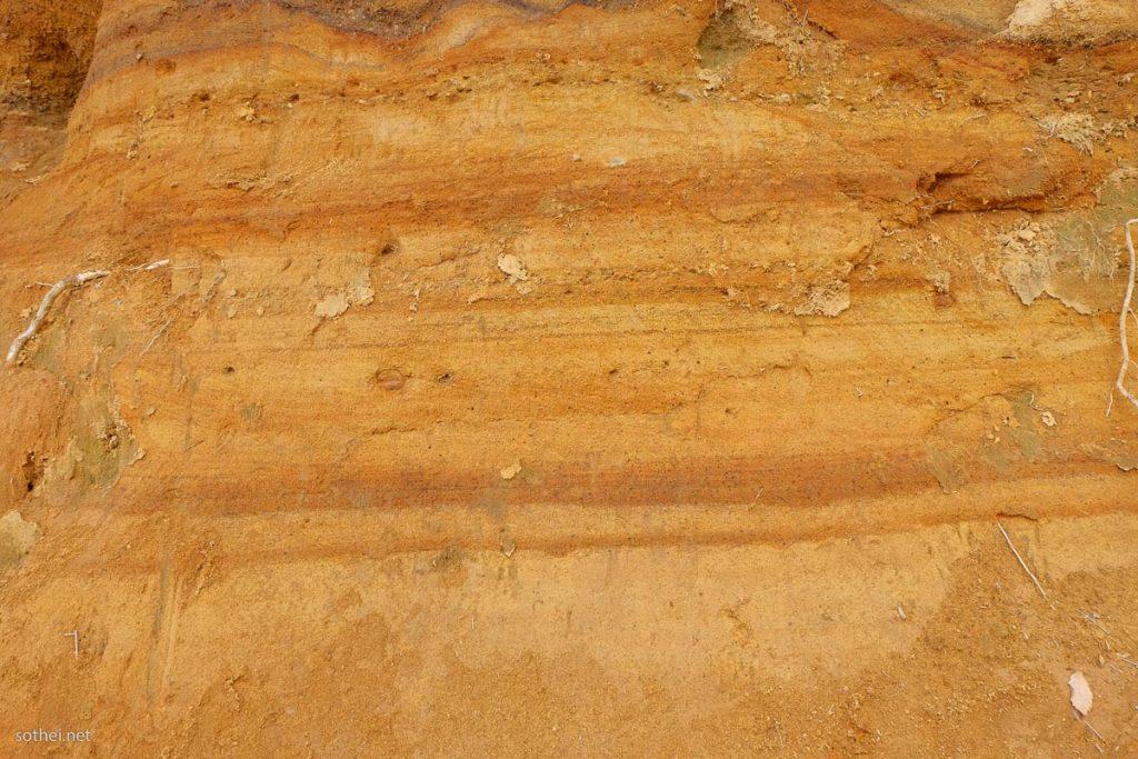 関東ローム層の地層