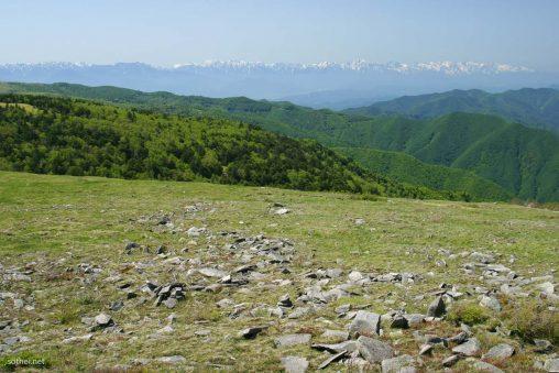 美ヶ原高原からの北アルプスの山脈
