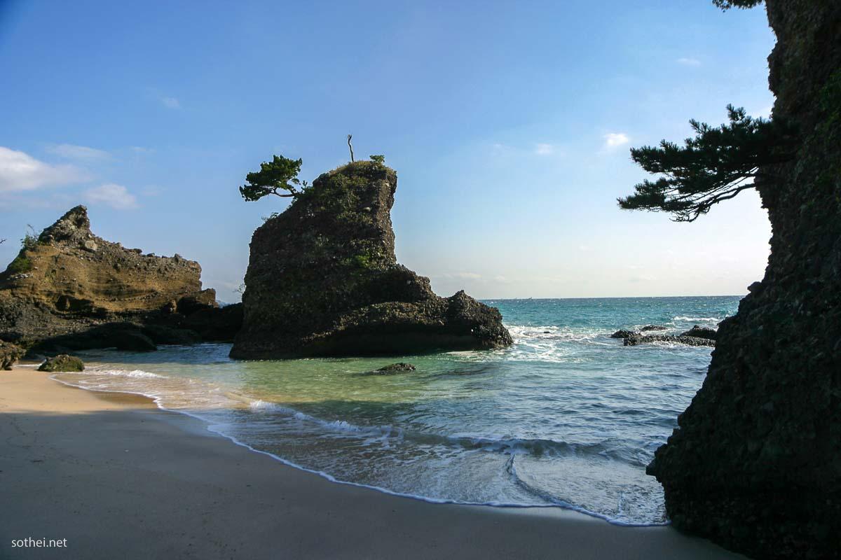 伊豆下田、吉佐美大浜の海